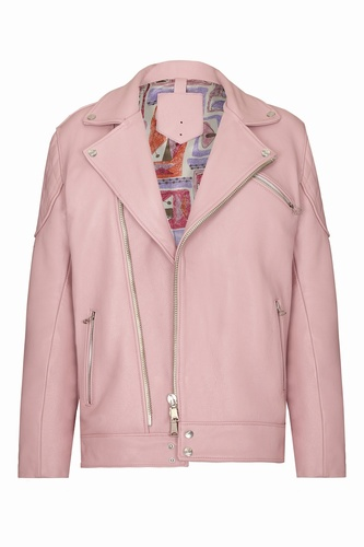 Howard Hughes Pink Leather Jacket